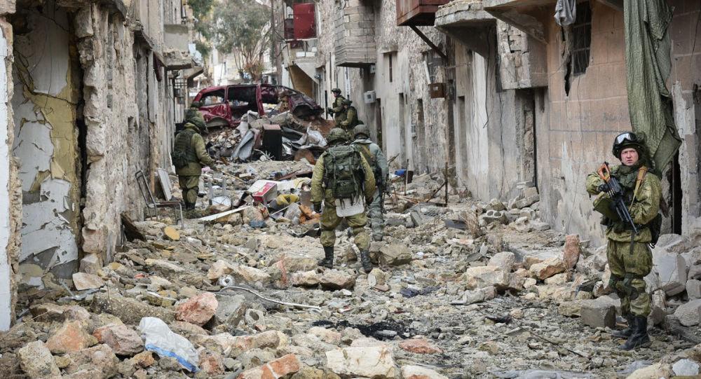 Militares russos em Aleppo, na Síria (Arquivo)