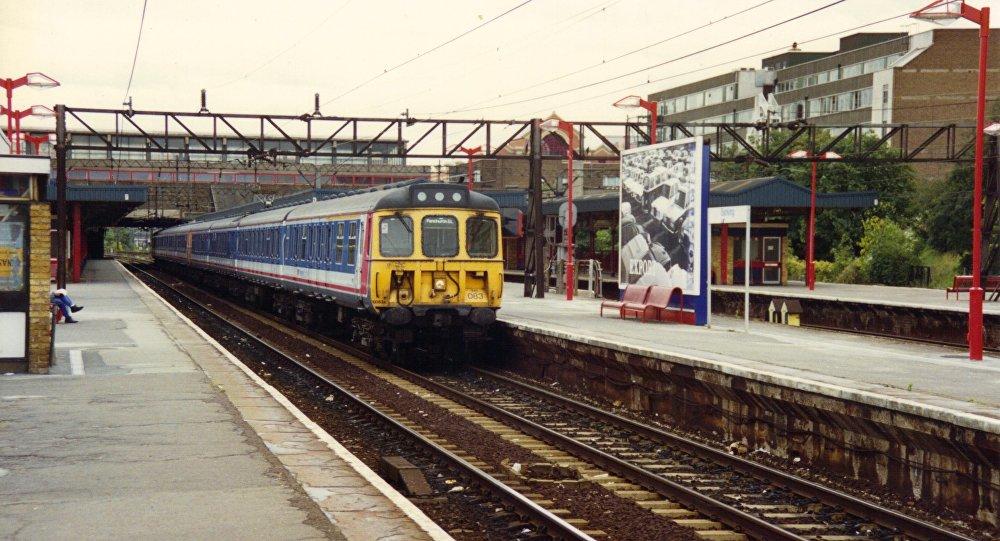 Estação feroviária em Barking, Londres oriental, Grã-Bretanha