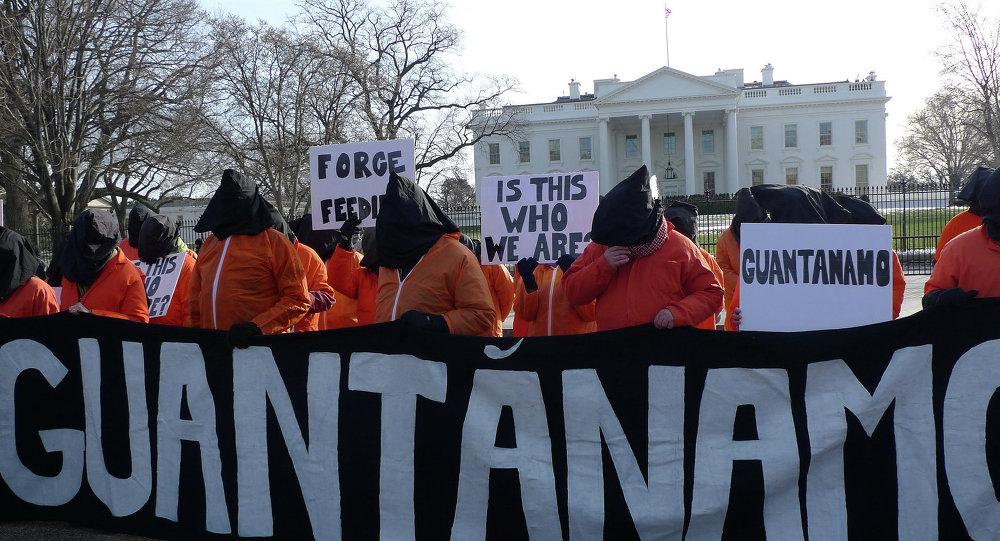 Manifestação contra Guantánamo em Washington
