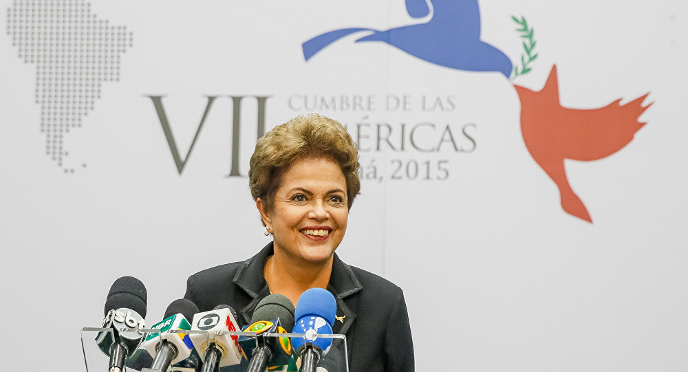 Presidenta Dilma Rousseff concede entrevista coletiva durante VII Cúpula das Américas