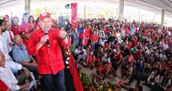Lula participa de encontro do MST em Salvador/BA