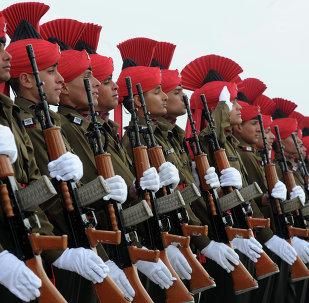 Soldados recrutas indianos