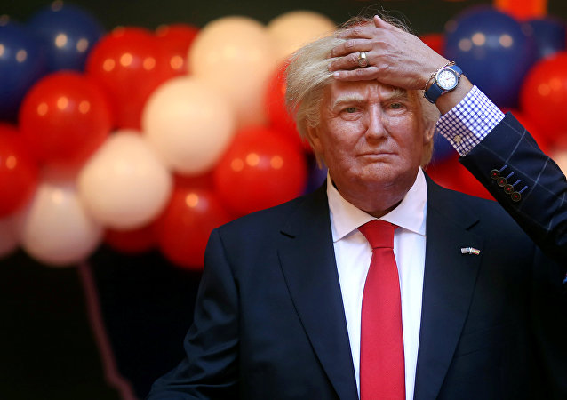 Boneco de Donald Trump no Museu de Cera de Madrid