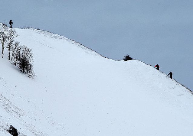 Uma avalanche (foto de arquivo)