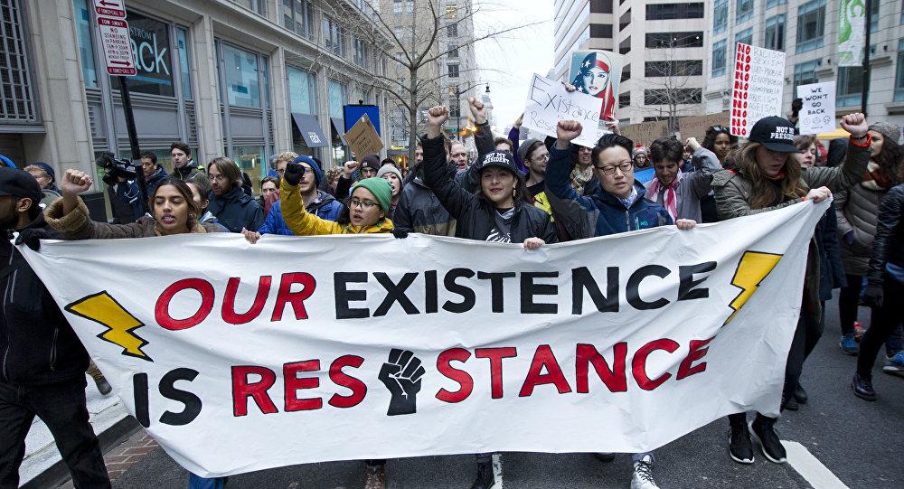 Image result for trump inauguration protests washington