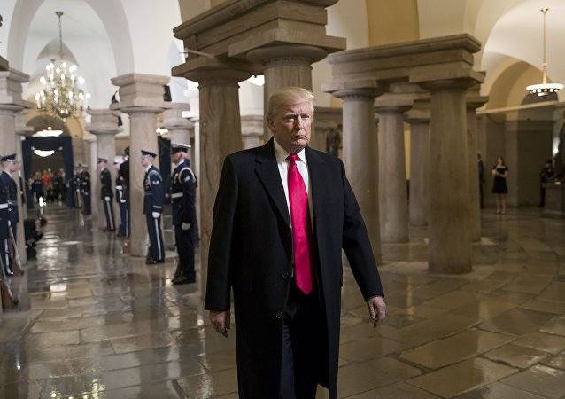 Donald Trump, presidente norte-americano, no Capitólio dos Estados Unidos, em Washington DC (arquivo)