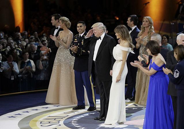 Baile durante a cerimônia da posse de Donald Trump