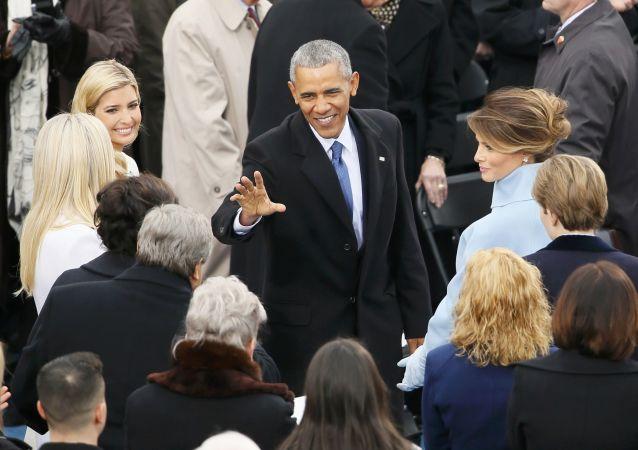 Obama chega à cerimônia da tomada de posse de Donald Trump