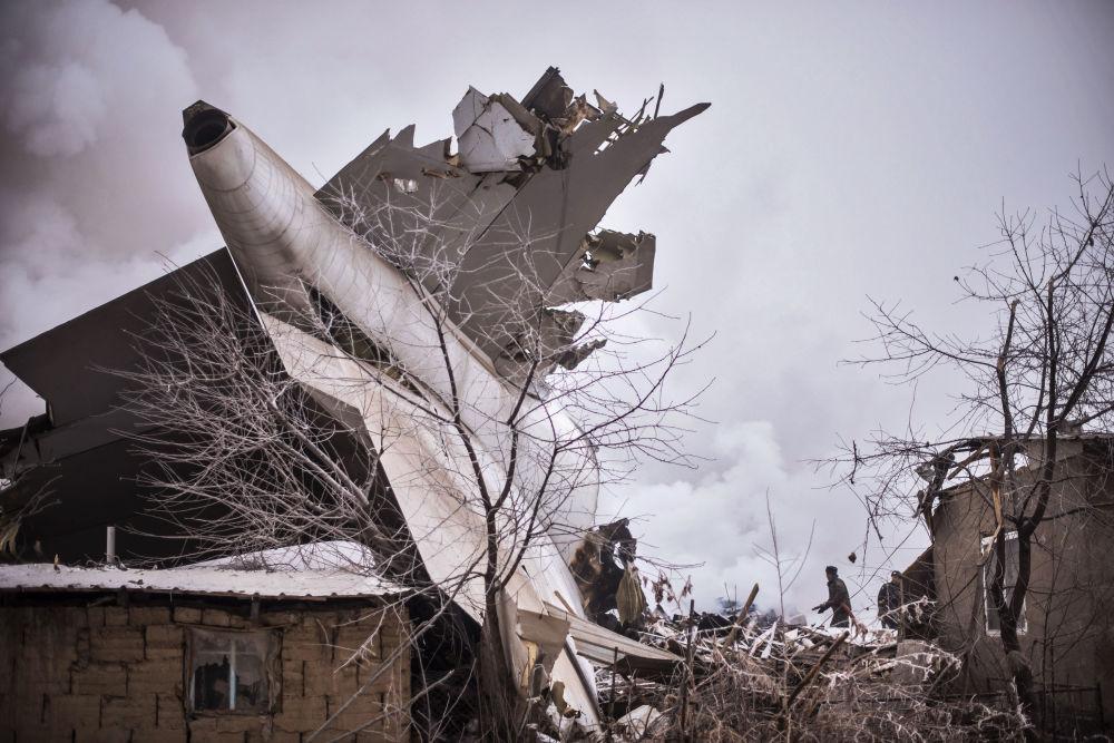 Lugar da queda do avião da MyCargo Airlines no Quirguizistão