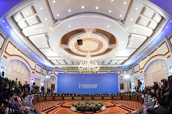 A mesa redonda das negociações de paz em Astana, 22 de janeiro, 2017