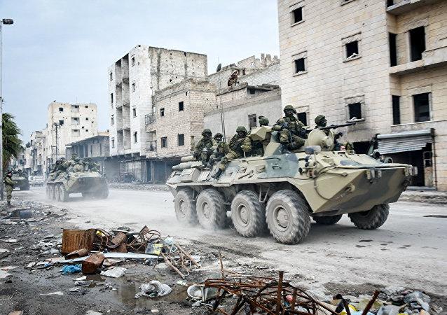 Engenheiros militares russos na Síria (arquivo)
