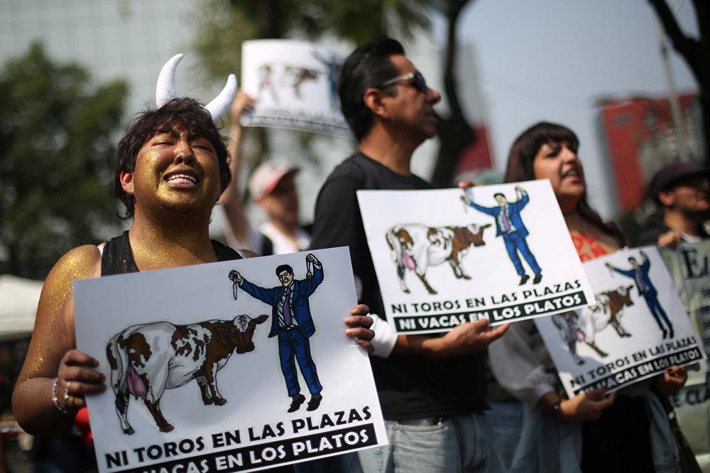 Protesto contra touradas