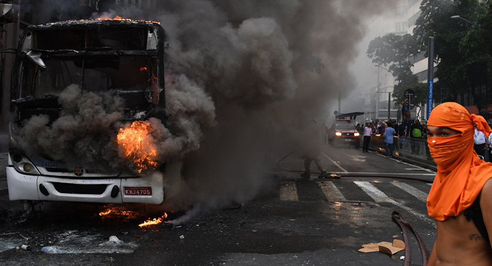 Protestos no centro do Rio