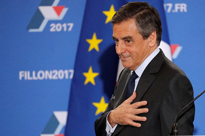 François Fillon, ex-premiê da França e presidenciável dos Republicanos (partido fundado pelo ex-presidente Nicolas Sarkozy)