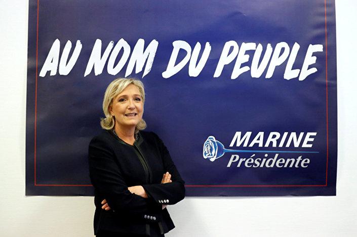 Líder da Frente Nacional francesa e presidenciável de 2017, Marine Le Pen
