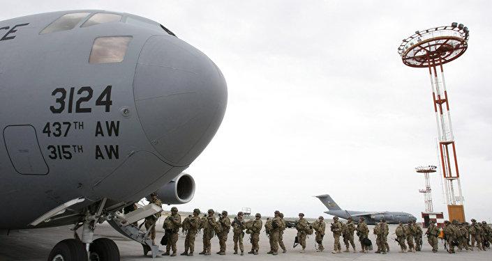 Base dos EUA no Aeroporto de Manas, no Quirguistão.