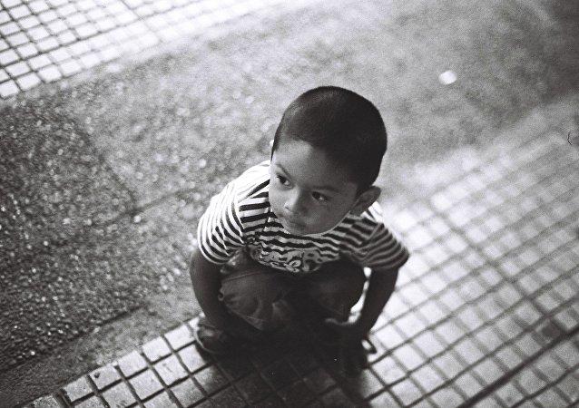 Um rapaz chinês