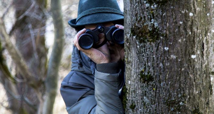 Espião trabalhando
