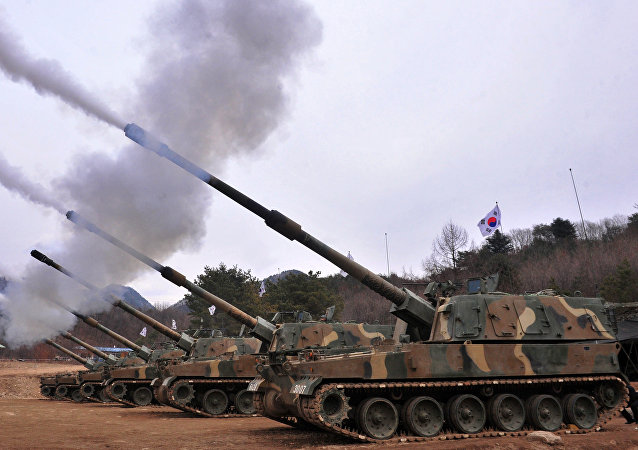 Obuseiro blindado autopropulsado sul-coreano K9 Thunder de 155 mm