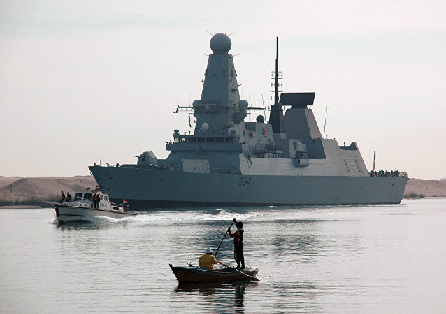Destróer britânico HMS Diamond (arquivo)