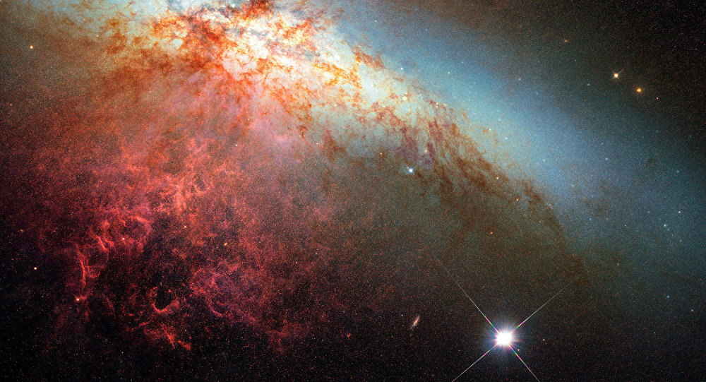 Supernova na galáxia M82 (foto ilustrativa)