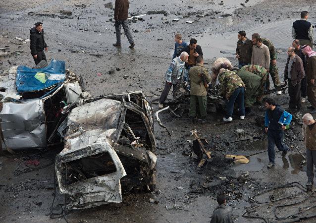 Atentado terrorista em Homs (arquivo)