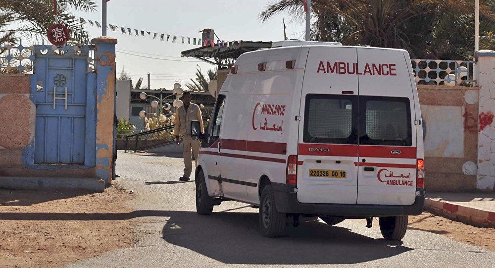 Ambulância do serviço de emergências da Argélia durante uma operação em In Aménas (arquivo)