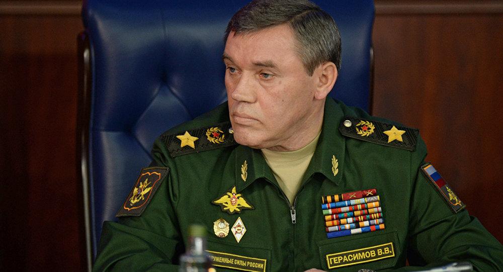 Chefe do Estado-Maior General russo, general Valery Gerasimov