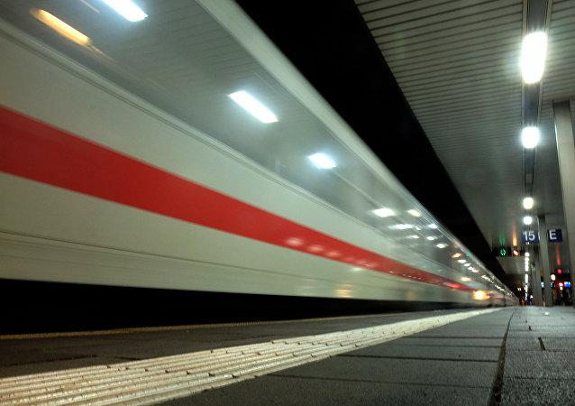 Estação de trem central de Dusseldorf, Renânia do Norte-Vestfália, Alemanha (Arquivo)
