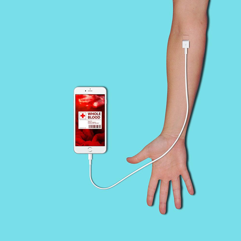 Retirando sangue