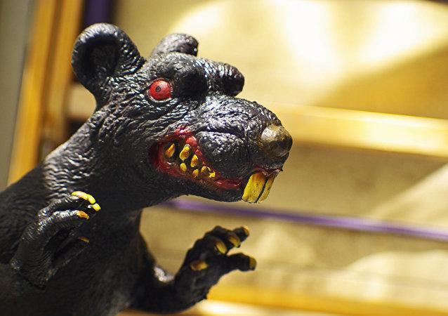 Estátua de um rato (imagem referencial)