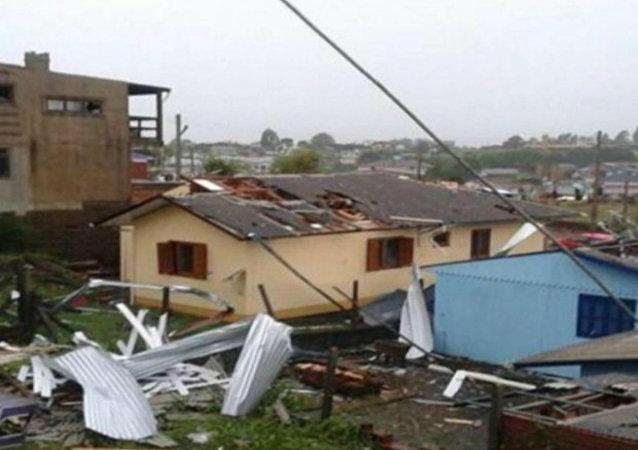 Temporal destruiu casas em São Francisco de Paula, no Rio Grande do Sul
