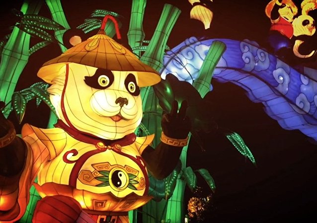 Festival de Lanterna Mágica do Ano Novo Chinês em Londres