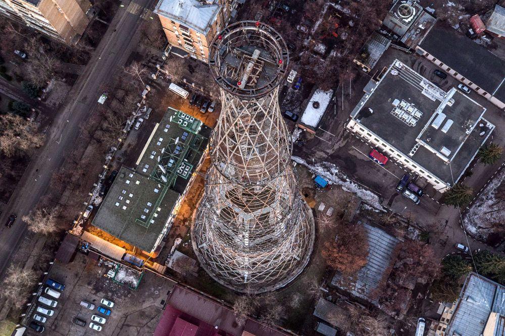 Torre de Shukhov, a antiga torre de transmissão em Moscou
