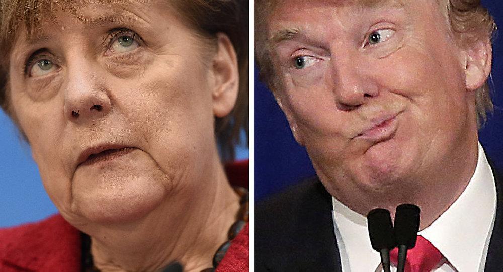 Chanceler alemã, Angela Merkel, e presidente dos EUA, Donald Trump