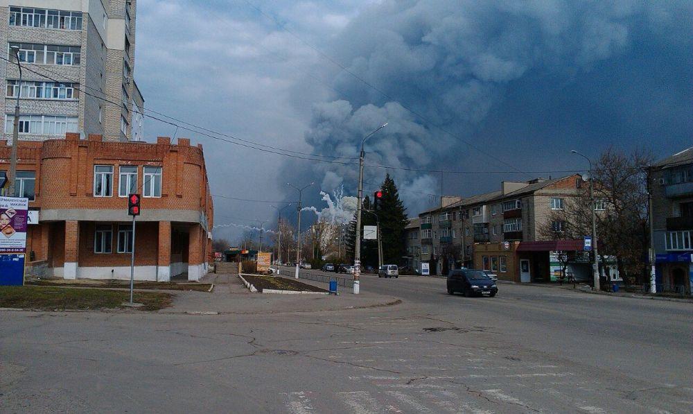 O incêndio ocorreu nos armazéns militares da cidade de Balakleya, na região de Carcóvia