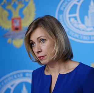 Entrevista coletiva da representante oficial da chancelaria russa Maria Zakharova