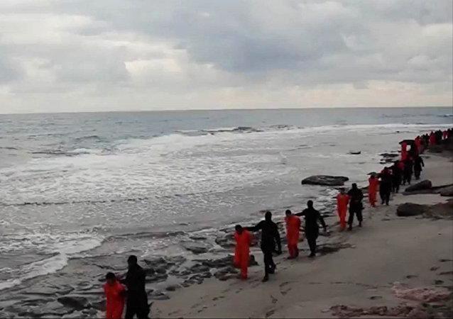 Reféns do grupo extremista Daesh