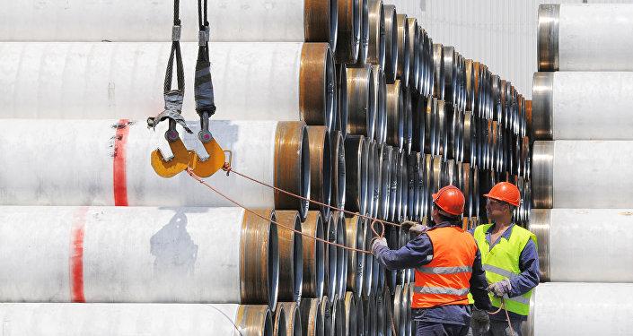 Construção do gasoduto Corrente Turca