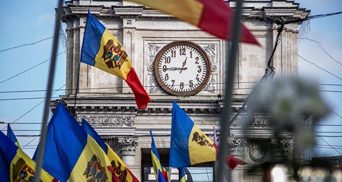 Chisinau, Moldávia, durante um protesto (arquivo)
