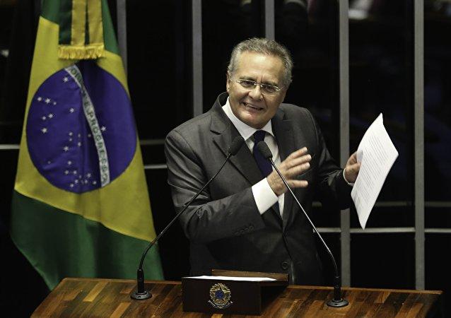 Senador Renan Calheiros discursa no plenário do Senado