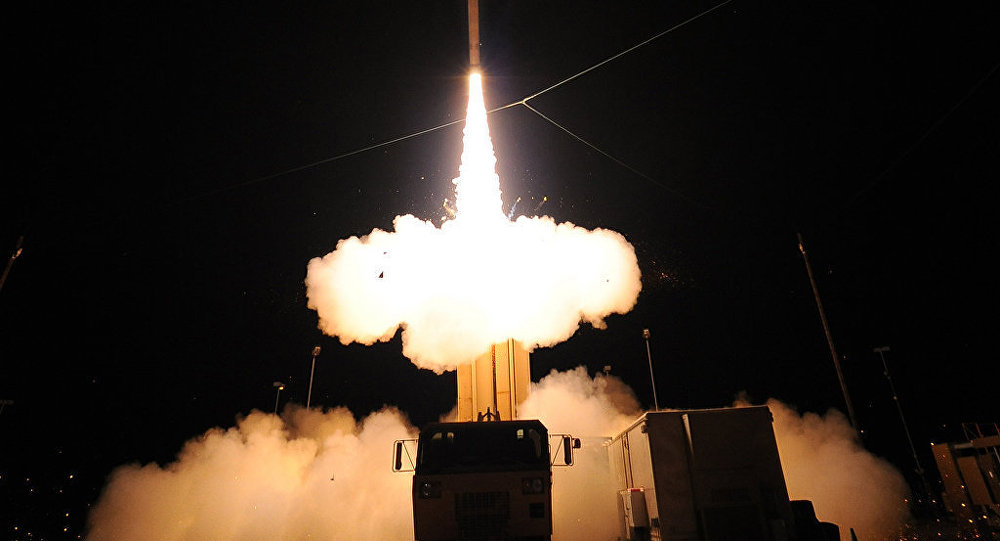 Sistema da defesa antiaérea THAAD norte-americano