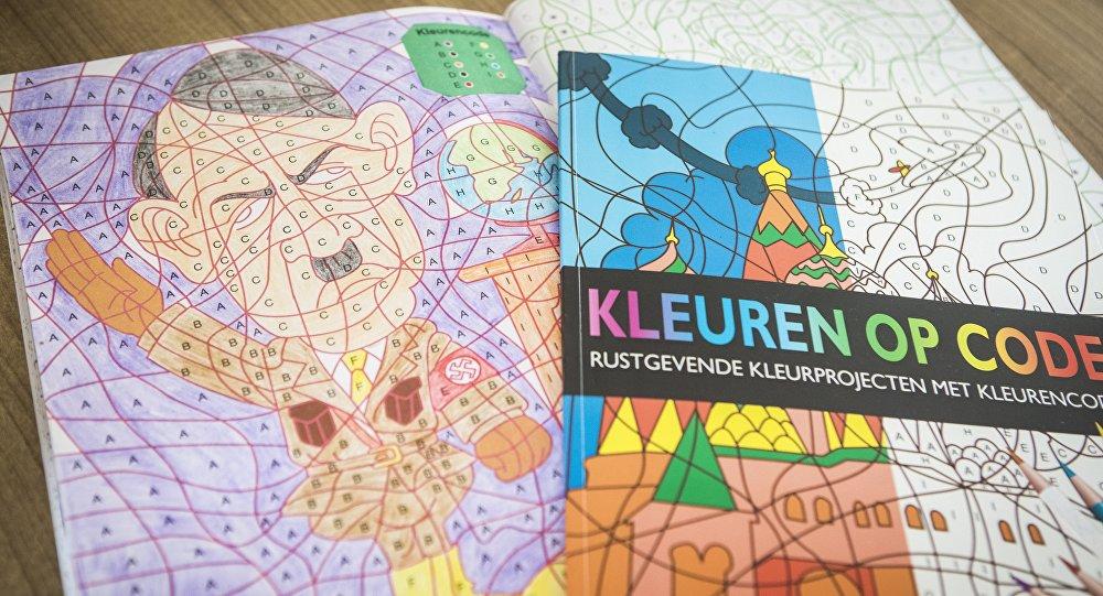 Imagem de Hitler em um livro de colorir