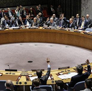 Votação dos membros do Conselho de Segurança da ONU sobre resolução proposta por Washington, Londres e Paris quanto à Síria