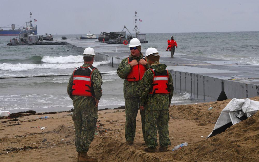 Militares americanos durante treinamentos conjuntos dos EUA e Coreia do Sul em Pohang, a 260 km de Seul, 11 de abrir de 2017