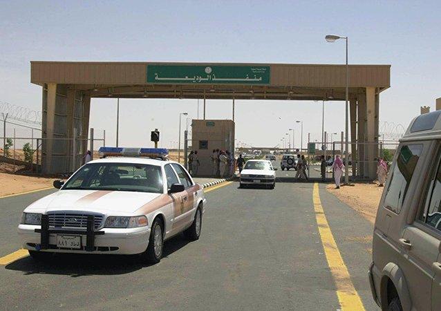 Posto de fronteira entre o Iêmen e a Arábia Saudita, na cidade de Al-Wadia, localizada na província saudita de Najran (arquivo)