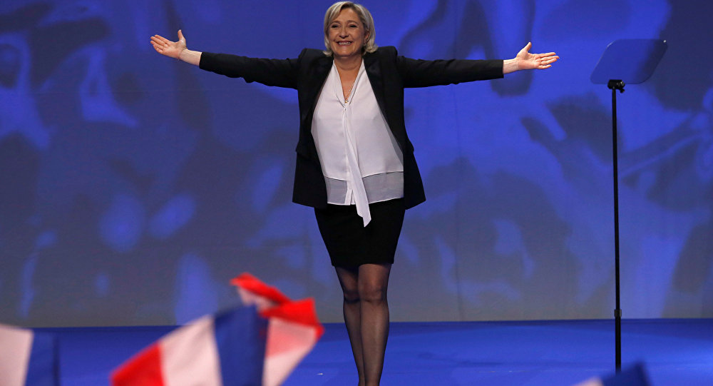 Marine Le Pen, líder do partido da direita francesa Rassemblement National (arquivo)