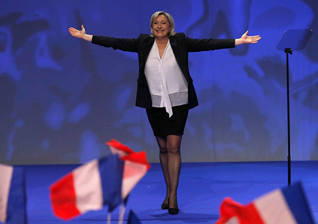 Marine Le Pen, líder do partido da direita francesa Rassemblement National (arquivo)