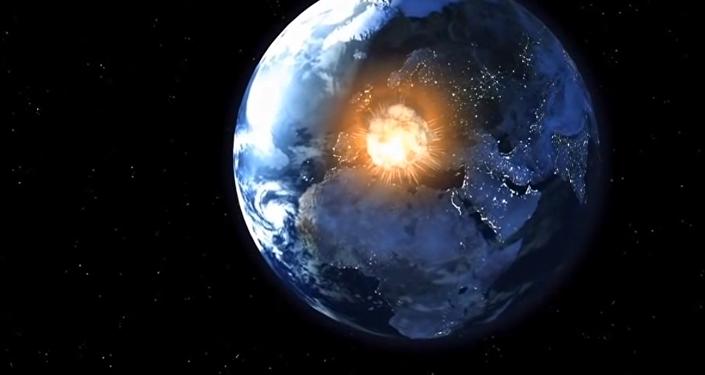 Colisão da Terra com o corpo celeste