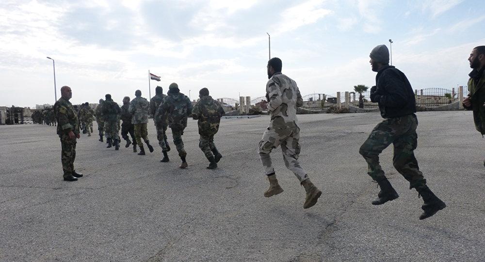 Novos destacamentos especiais do exército sírio que têm grande experiência precisamente em combates nas condições urbanas